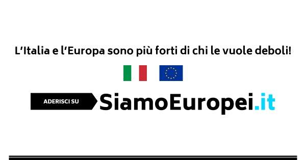 "Luigi Bobba: aderisco al manifesto ""SIAMO EUROPEI"""