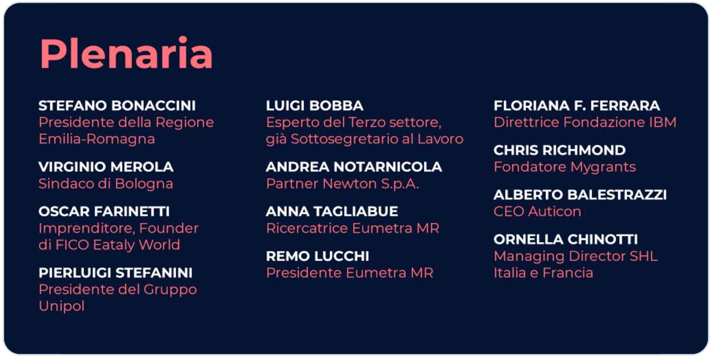 Una nuova prospettiva sulla Global Inclusion con gli ospiti della plenaria l'11/09 a Bologna