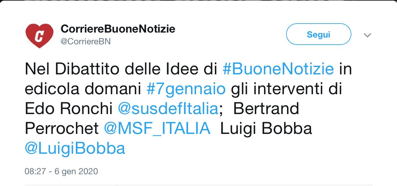 """""""Promesse tradite sul Terzo settore: quattro consigli a chi governa"""" di Luigi Bobba su Corriere Buone Notizie"""