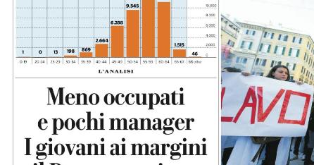Meno occupati e pochi manager. I giovani ai margini e il Paese non riparte