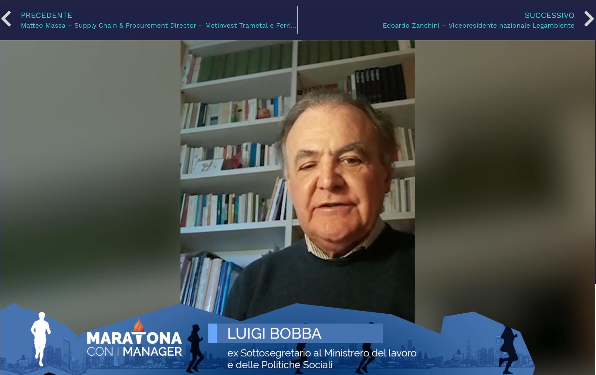 Maratona con i manager: Luigi Bobba, ex Sottosegretario al Ministrero del lavoro e delle Politiche Sociali