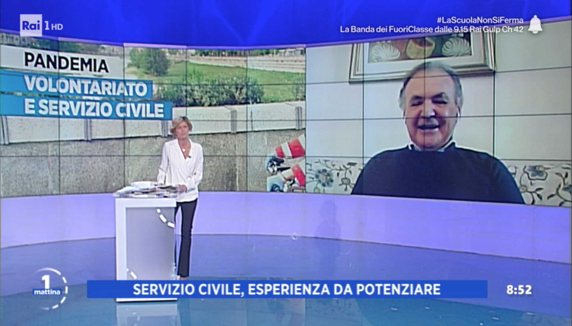 Il presidente di Terzjus Luigi Bobba a Unomattina del 14/05/2020