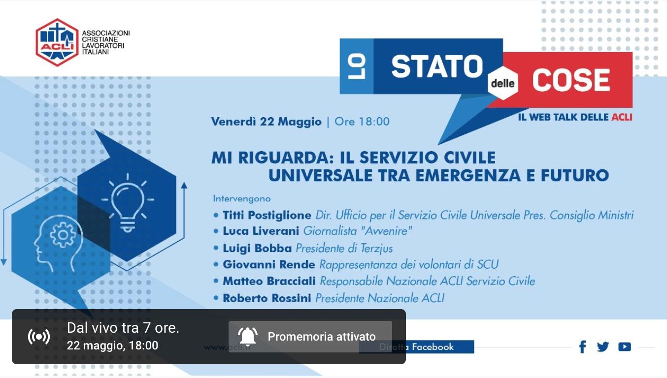 """Luigi Bobba a """"Mi riguarda: il Servizio civile universale tra emergenza e futuro"""""""