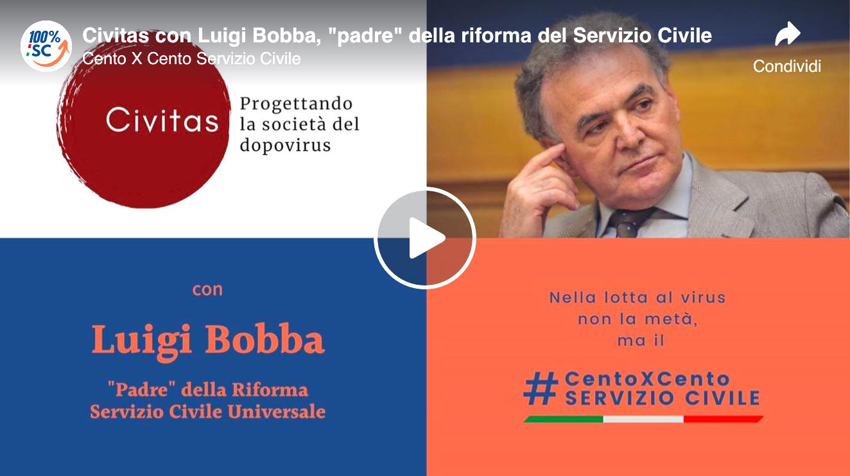 """Civitas con Luigi Bobba, """"padre"""" della riforma del Servizio Civile"""