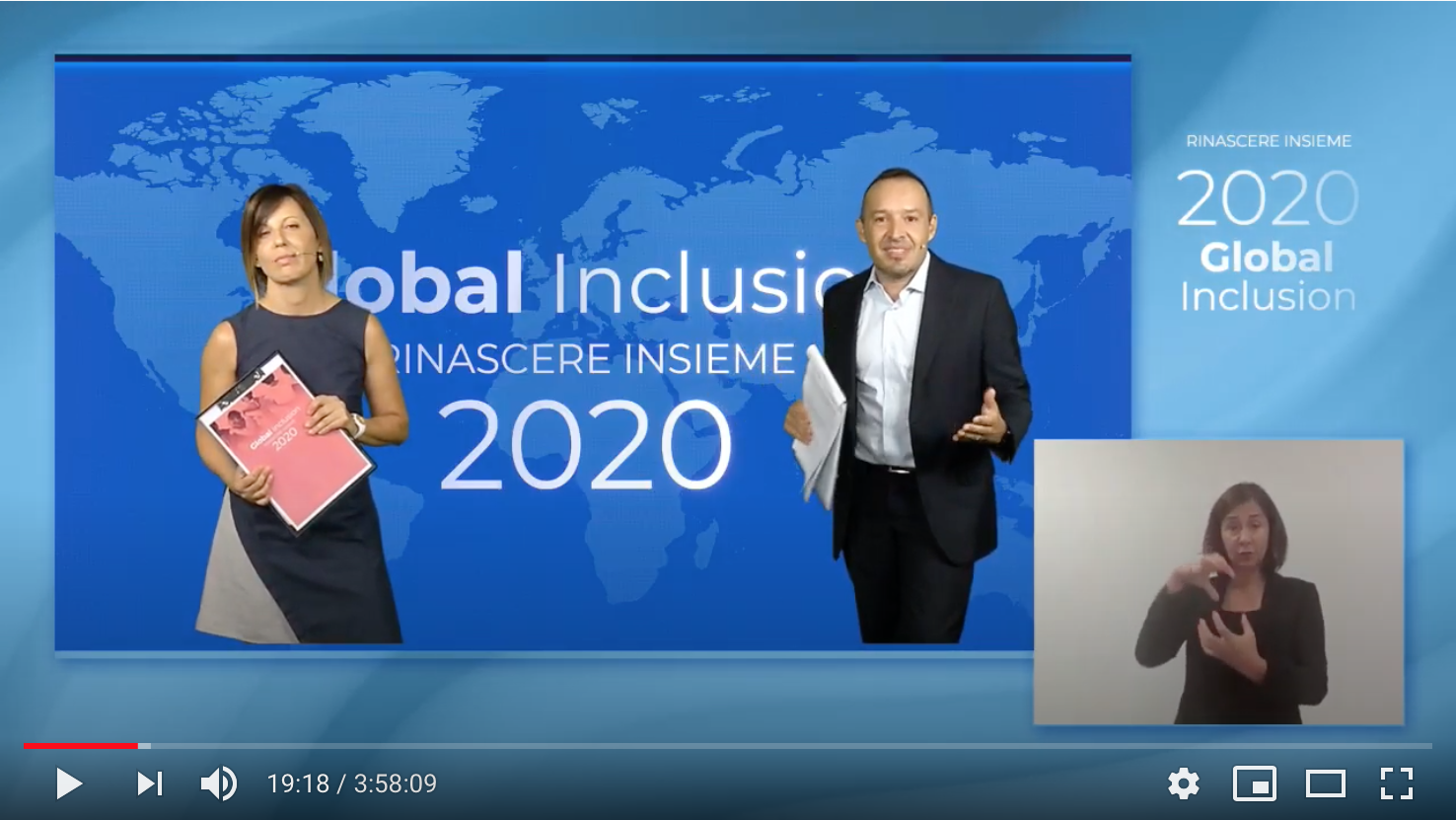 Global Inclusion, Rinascere insieme 2020. Il video dell'evento