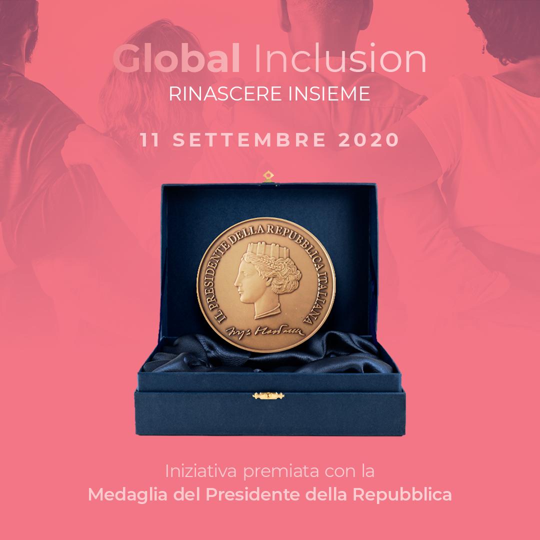 """Luigi BOBBA: grato al Presidente Sergio MATTARELLA che ha insignito """"Global Inclusion. Rinascere insieme 2020"""" della Medaglia del Presidente della Repubblica"""