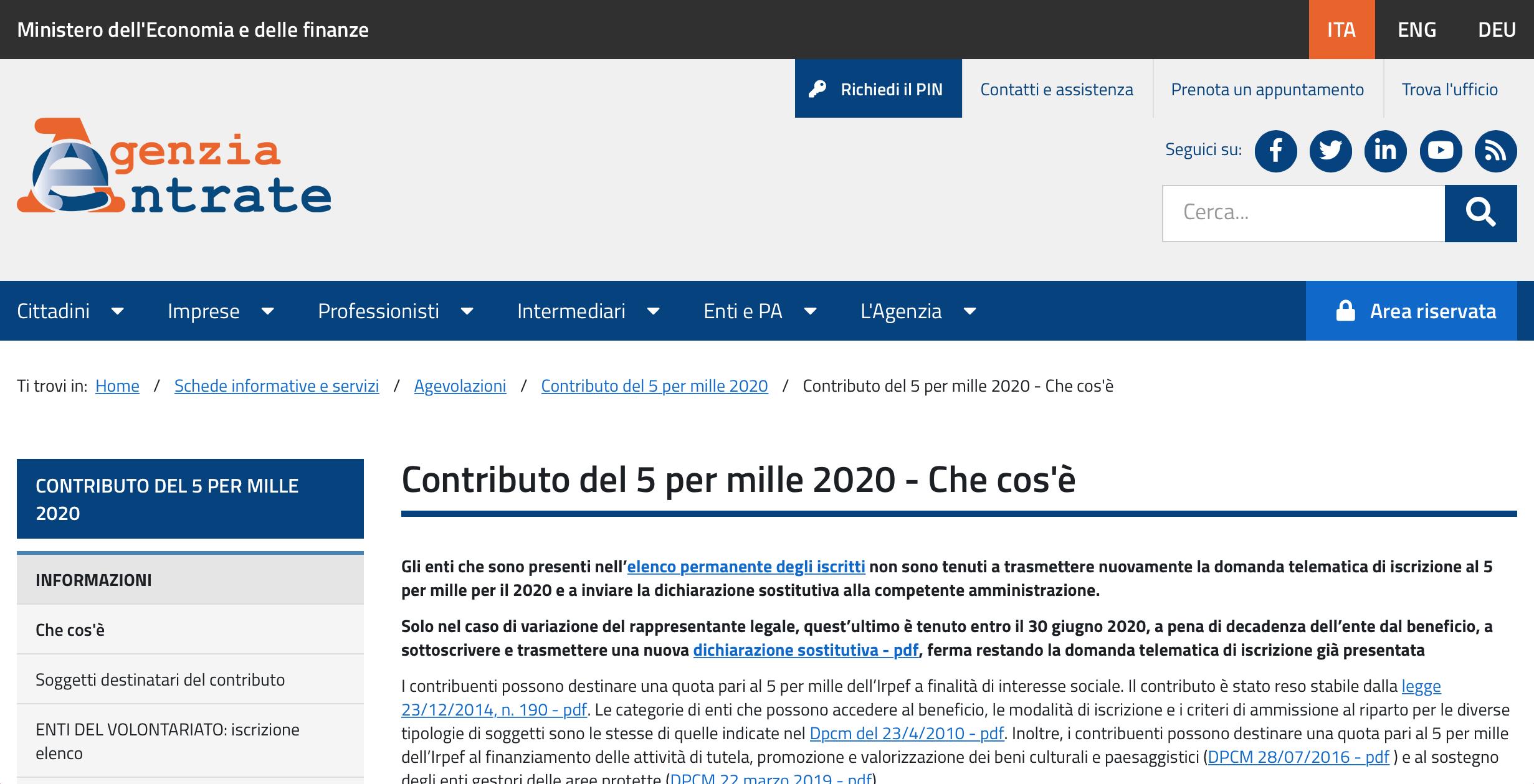 """Alessandro Lombardi: """"Registro unico nazionale del Terzo settore e riforma dell'istituto del cinque per mille"""""""