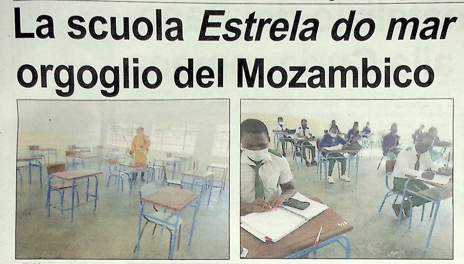 La scuola Estrela do Mar, orgoglio del Mozambico