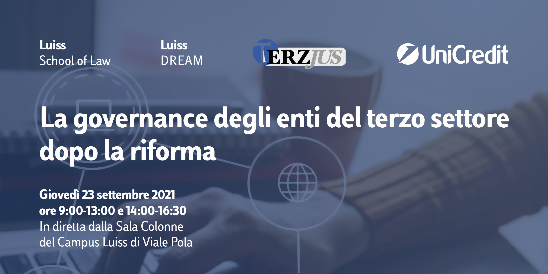 La governance degli enti del terzo settore dopo la riforma. Roma, 23 settembre 2021